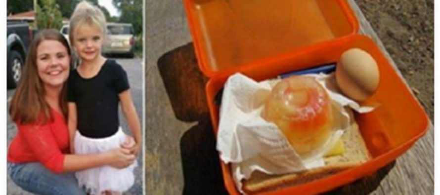 Mom Stunned After Finding That Teacher Didn't Let a 4 Yr-Old Eat Her Packed Lunch