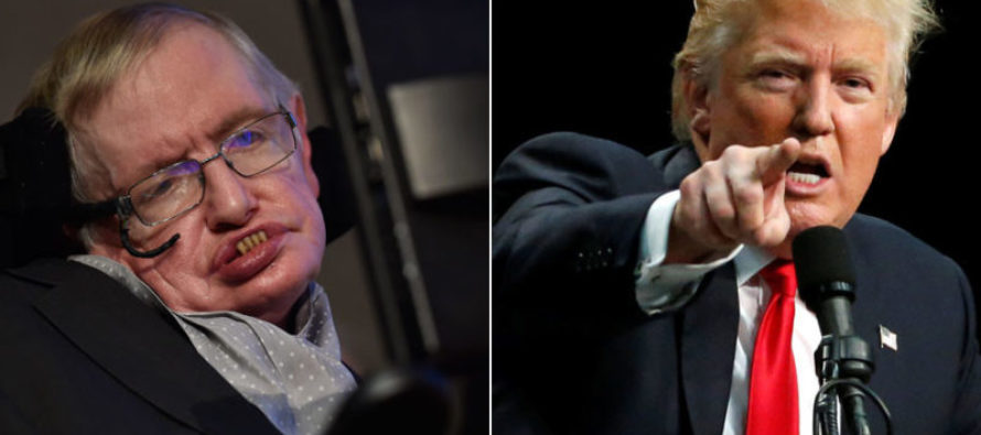 Stephen Hawking Says Trump Will Push Earth 'Over Brink'; Scientists Give Him a BRUTAL Wakeup Call