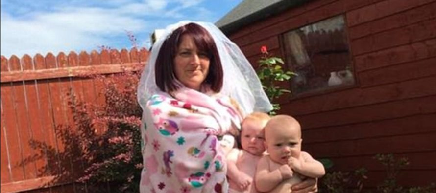 PERFECT! Irish mother of twins hilariously mimics Beyonce's baby reveal photo