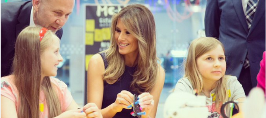 First Lady Melania Trump Shares A Message Of Living Without Fear In Poland [VIDEO]