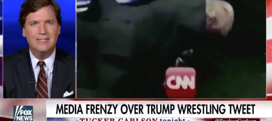 Tucker Carlson MOCKS CNN For Showing Their True Colors After Trump Trolls Them [VIDEO]