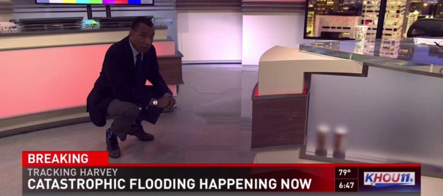Houston News Station Is Live On Air When Flood Waters From Hurricane Harvey Come Pouring In [VIDEO]