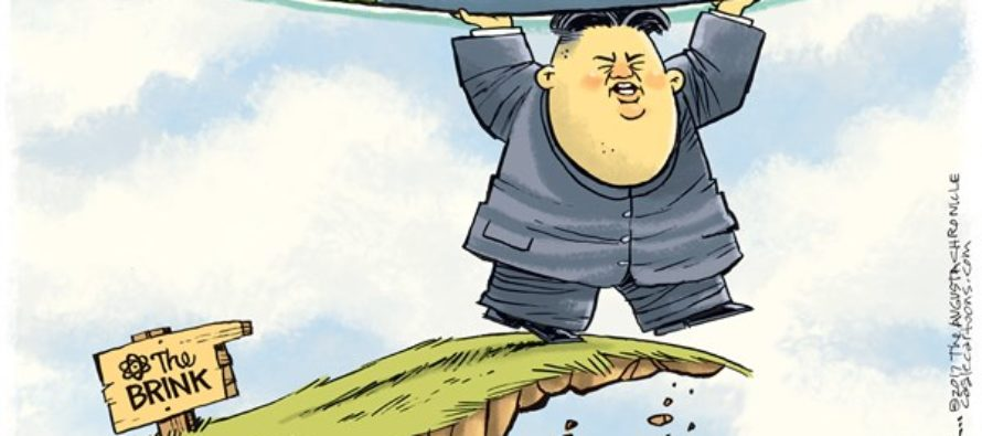 Kim Jong Un Brink (Cartoon)