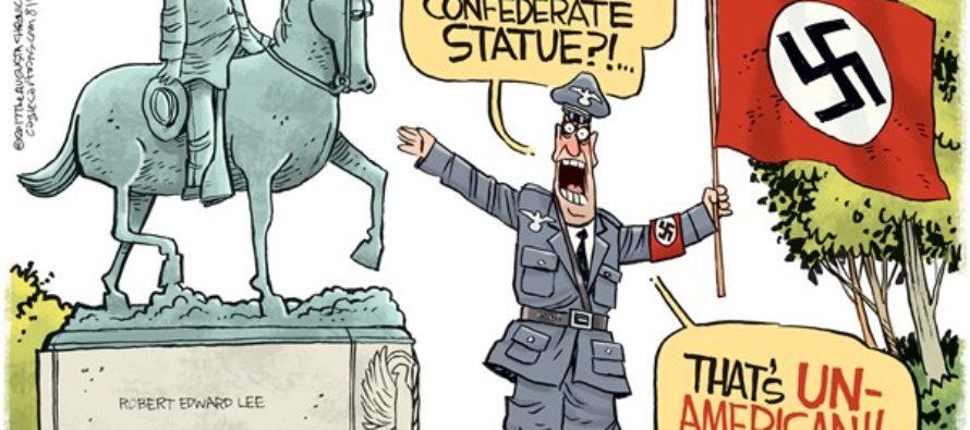 Nazi Protest (Cartoon)
