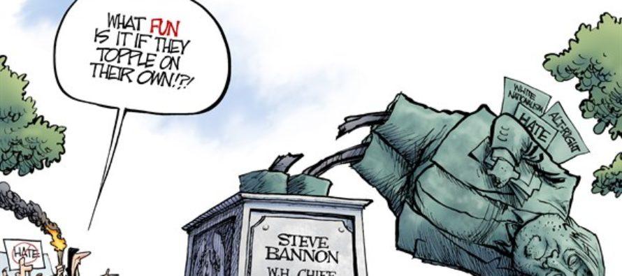 Bannon Statue (Cartoon)