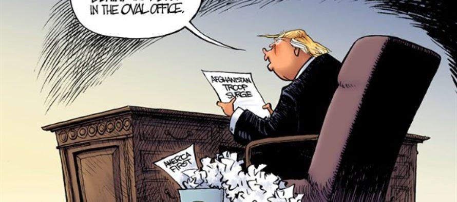 Trump on Afghanistan (Cartoon)