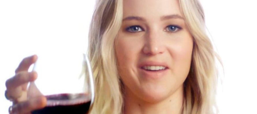 "Jennifer Lawrence Raffles Off A Chance To Get Drunk With Her To Fight ""Political Corruption"" [VIDEO]"