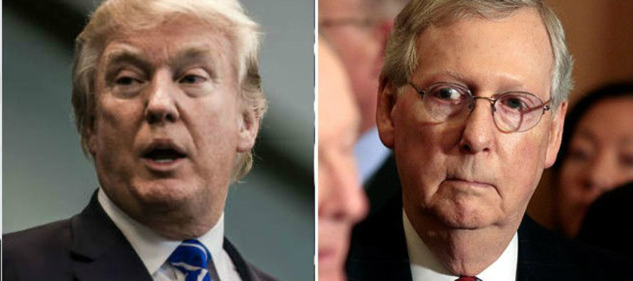Trump To Mitch McConnell: If You Can't Pass Legislative Agenda Then Step Aside!