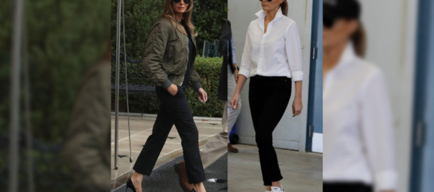 After Backlash For Wearing High Heels In Houston – Melania Wears Hat With A Message For Her HATERS! [VIDEO]