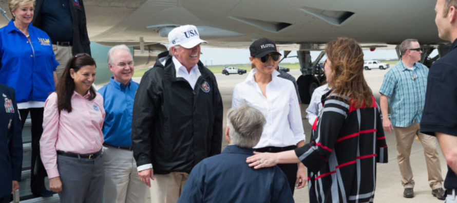 HUGE Difference Between Melania Trump's Response To Harvey VS Michelle Obama's To Sandy