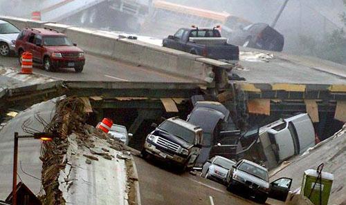 collapsing bridge