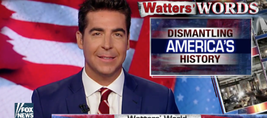 Jesse Watters: They're Tearing Down Statues So We Forget Dems Enslaved Black People [VIDEO]