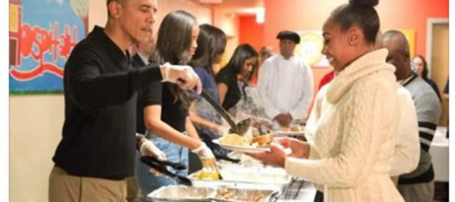 Look Closer and You'll See What's Wrong With THIS Picture Of Obama Serving Food During Hurricane [PHOTOS]