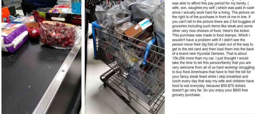 Dad Explains Difference Between His Shopping Cart & Person Next To Him. Post Goes VIRAL [VIDEO]