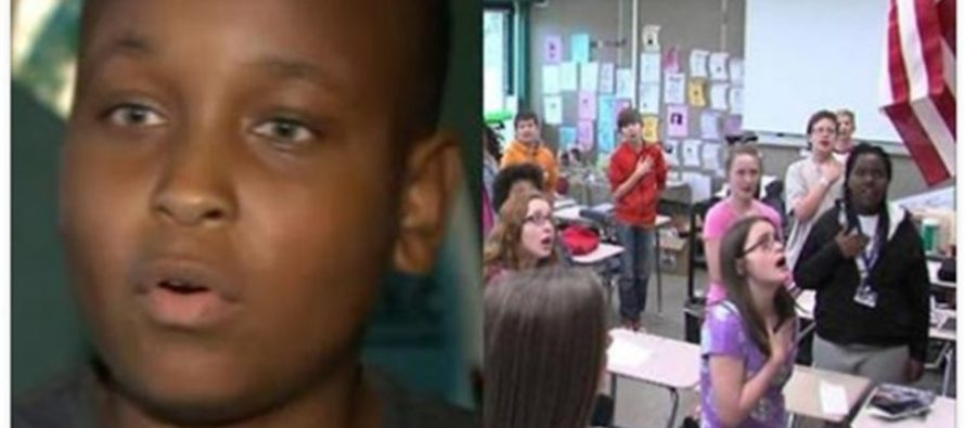 Teen Sat For the Pledge Because 'America Sucks', Teacher Responds in Unexpected Fashion