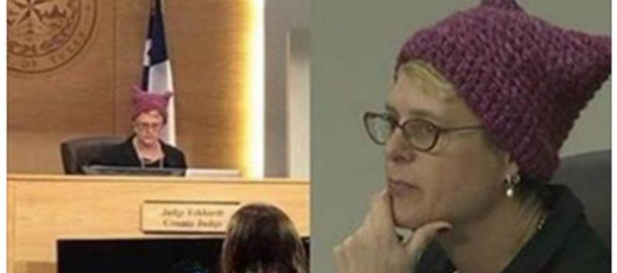 Judge Wears An Anti-Trump Vagina Hat IN COURT!