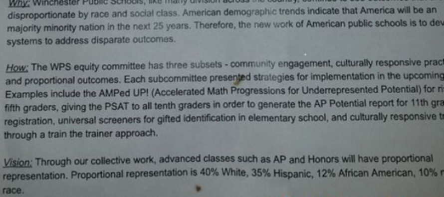 Public High School Selects for Advanced Placement and Honors Classes by Race