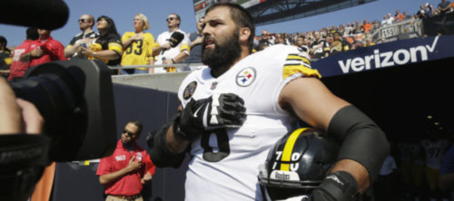 Former Army Ranger Defies Team… Is Only Steelers Player To Stand For National Anthem [VIDEO]