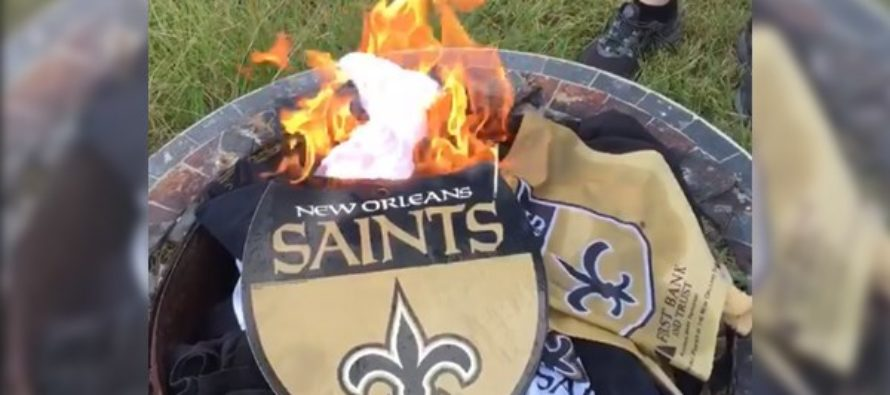 Fans Disgusted by NFL's Disrespect of the Flag Burn Their NFL Jerseys & Boycott [VIDEO]