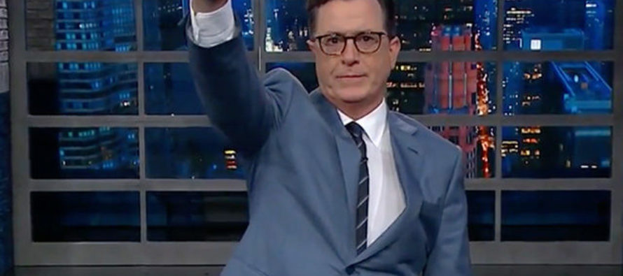 Stephen Colbert Gives Nazi Salute To Trump On Late Show – Because He Thinks It's Funny? [VIDEO]