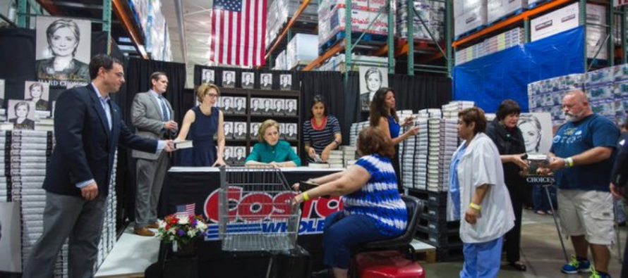 "Hillary Holds Book Signing In Costco Milk Aisle, Protesters Chant ""Hillary For Prison!"" [VIDEO]"