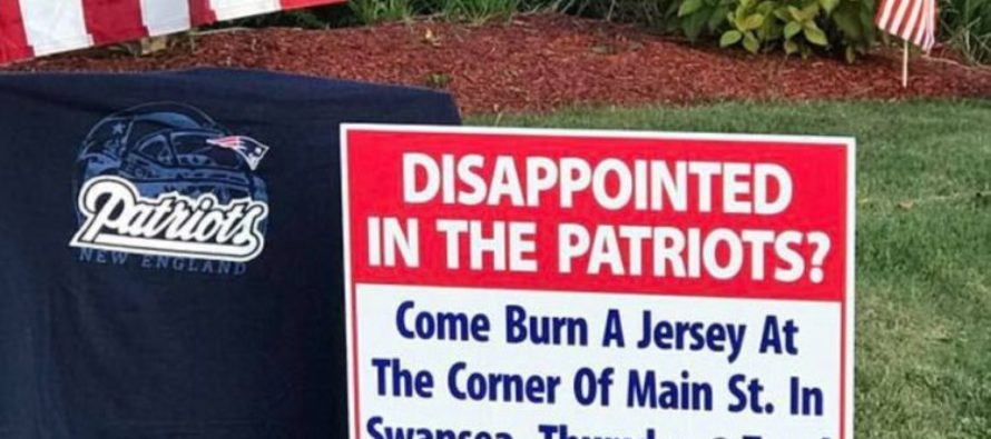 Man Puts Out Invitation For A Patriots Jersey Burn Party – Then People Start Showing Up! [VIDEO]