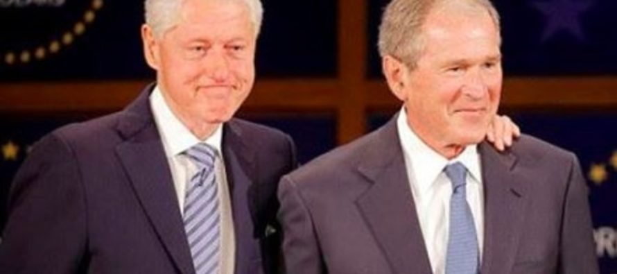 Bill Clinton & George W. Bush Spark Outrage With Comments On Trump (Photos)