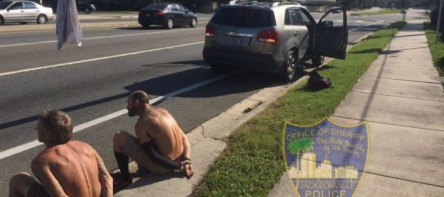 Shirtless Hurricane Irma Looters Arrested For Stealing Power Pole [VIDEO]