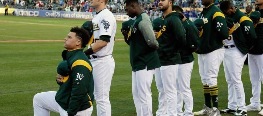 First MLB Player Kneels During National Anthem, Fans Immediately Upset
