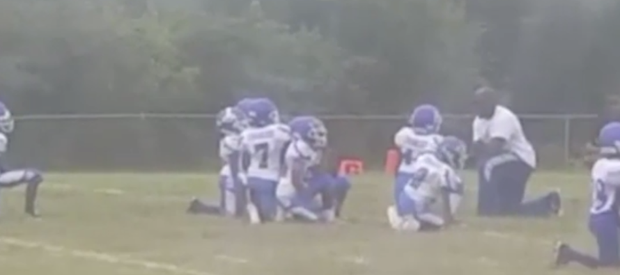 The National Anthem Plays At A Youth Football Game – Then 8 Year-Olds Take A Knee [VIDEO]