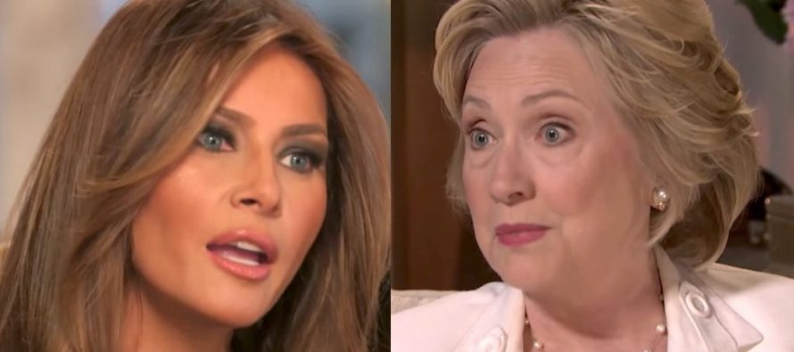 THE NERVE! Hillary Is Now Criticizing First Lady Melania Trump – Tells Her How To Do Her Job [VIDEO]