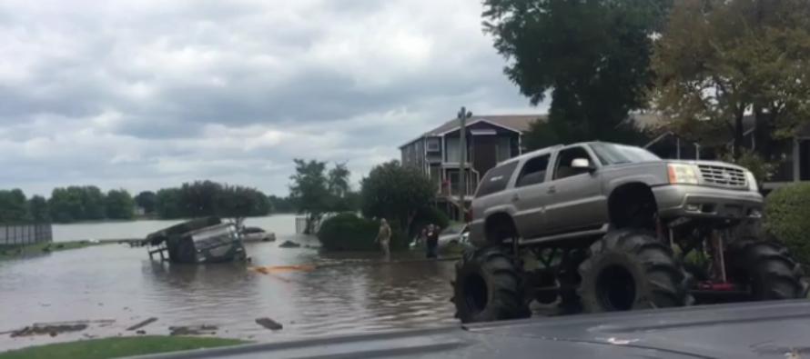 Monster Trucks Arrive to Help Harvey Victims in Houston [VIDEO]