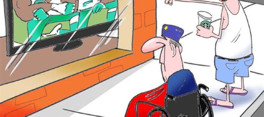 NFL Takes A Knee (Cartoon)