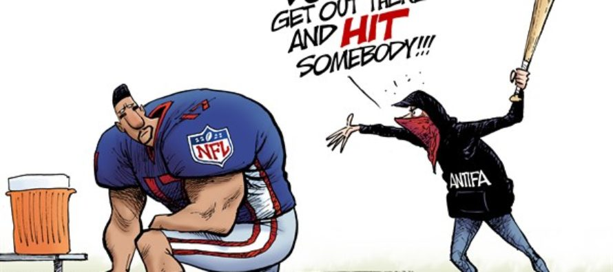 NFL Protest (Cartoon)