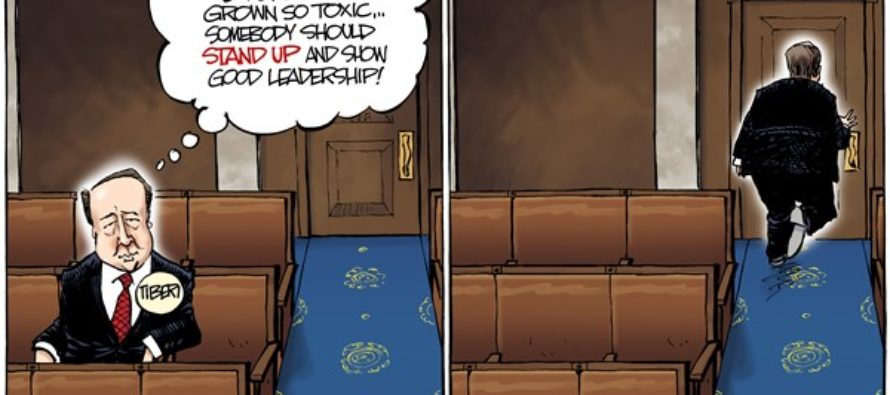 LOCAL OH Tiberi Retiring (Cartoon)