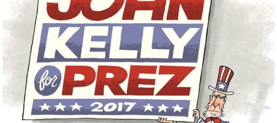 John Kelly for President (Cartoon)