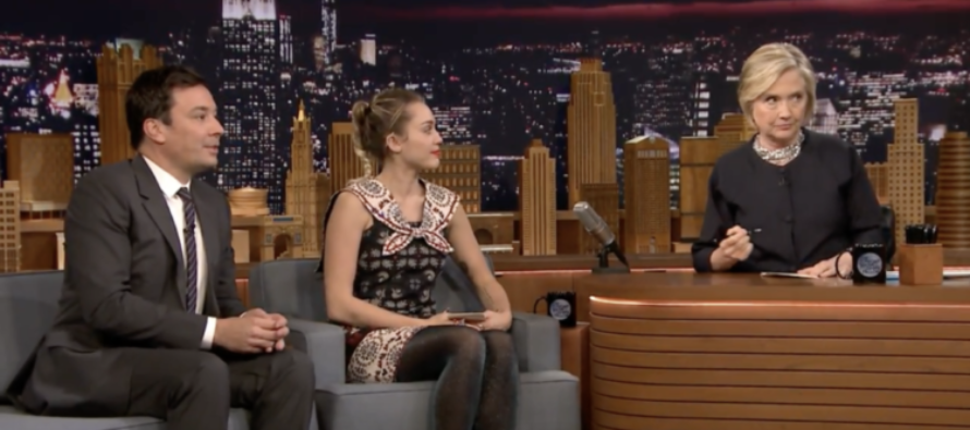 Fallon Has Special 'Thank You Note' Segment For Hillary Clinton – Miley Cyrus Crumbles [VIDEO]