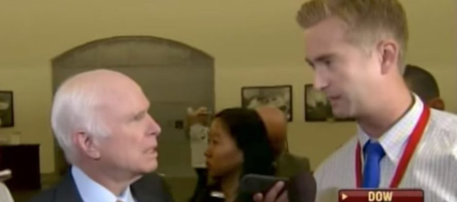 John McCain BLOWS-UP After Reporter Asks: 'You Intentionally Blocking Trump's Agenda?' [VIDEO]
