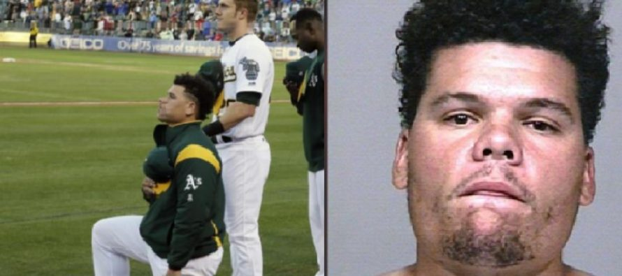 Only Baseball Player To Take A Knee Arrested For Brutal Thing He Did To A Woman