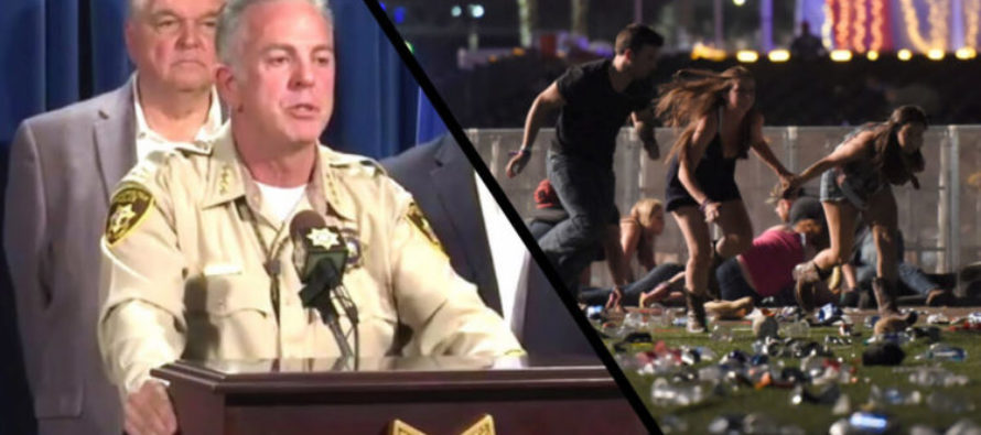 Hot Mic Captures Mystery Voice Telling Las Vegas Sheriff To 'Not Say Much' During Interview [VIDEO]