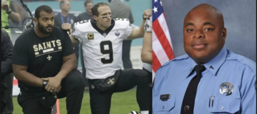 Saints Stand For Anthem But Shamelessly Kneel During 'Moment Of Silence' For Fallen Cop [VIDEO]