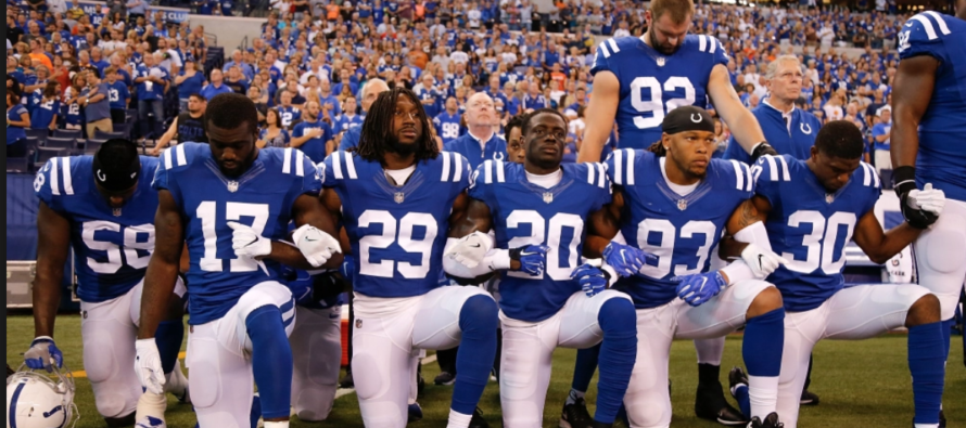 Kneeling NFL Players Get a NASTY SURPRISE as They Look Overhead During Anthem Protest [VIDEO]