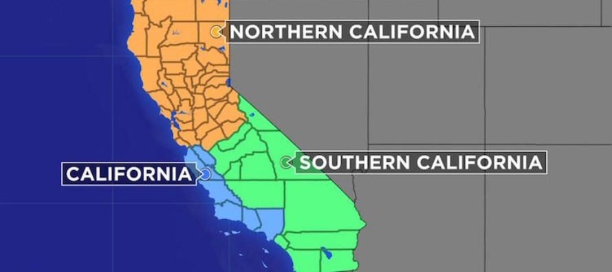 WOW. CalExit Push Has Cleared First Hurdle – California Is Cut In 3