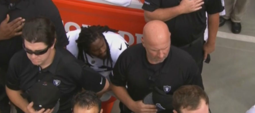 Raiders Staff Conceal Marshawn Lynch From Stadium Crowd To Hide His Anthem Protest!