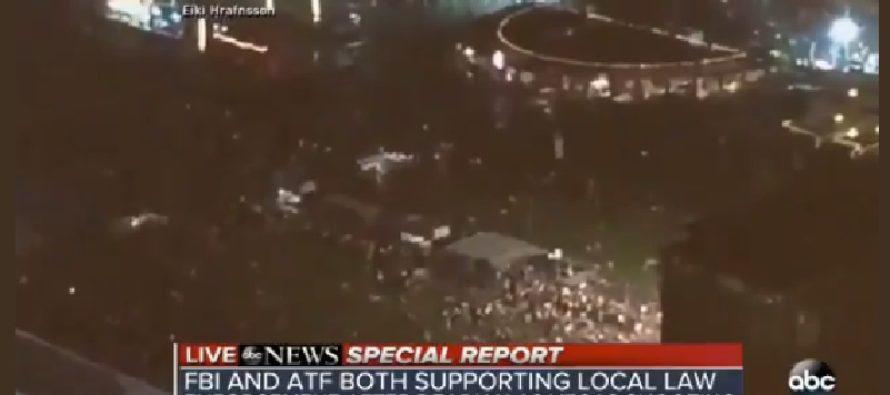 WARNING DISTURBING: Eyewitness' VIDEO, Gives Bird's Eye View Of Vegas Shooting; It's a Slaughter