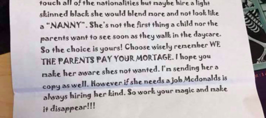 Racist Daycare Letter Flunks the Smell Test