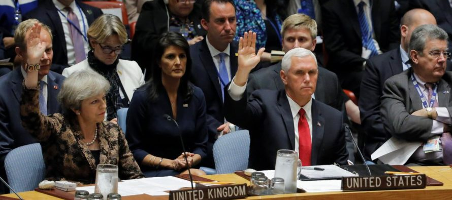 BREAKING! Pence Tells The UN To Take A Hike – The U.S. Will Take Care Of Business Directly [VIDEO]