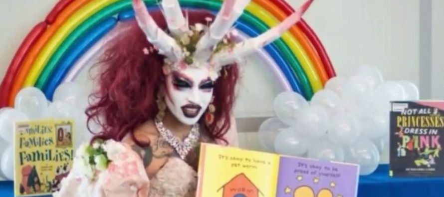 Demon Looking Drag Queen Reads To Children In Obama Neighborhood Library