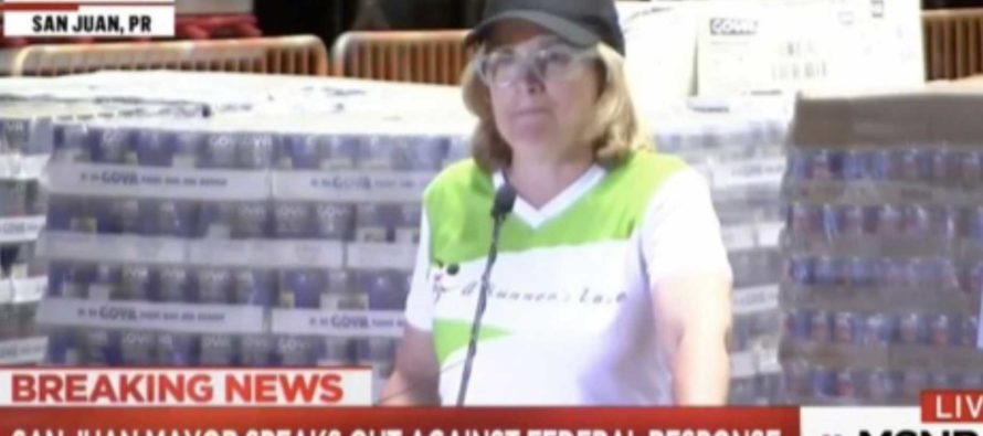 Puerto Rico Mayor Has Presser in Front of Undelivered Supplies