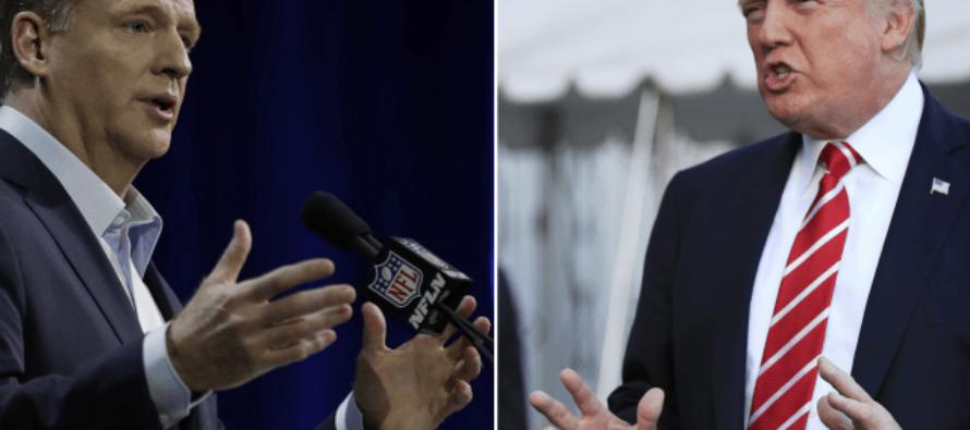 BOOOM! Trump Lights Up NFL's Roger Goodell Over Anthem Protests – GAME OVER!